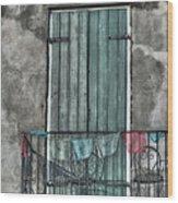 French Quarter Balcony Wood Print by Brenda Bryant