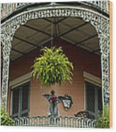 French Quarter Balcony Wood Print