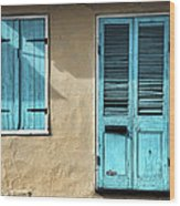 French Quarter Blues Wood Print