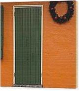 French Quarter Door - 33 Wood Print