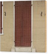 French Quarter Door - 34 Wood Print