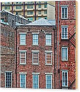 French Quarter Facades New Orleans Wood Print