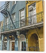 French Quarter Flair Wood Print