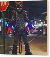 French Quarter Monster Wood Print