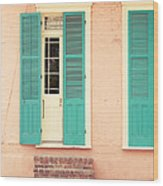 French Quarter Pastel Colours  Wood Print