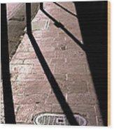 French Quarter Sidewalk Shadows New Orleans Wood Print