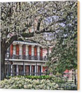 French Quarter Spring Wood Print