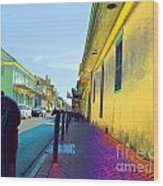 French Quarter Street Wood Print