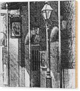 French Quarter Street Lamp Wood Print