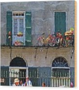 French Quarter Stroll 2 - New Orleans Wood Print