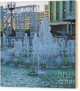 French Quarter Water Fountain Wood Print