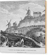 French Revolution Paris Wood Print