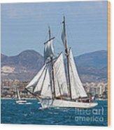 French Shooner Alicante Wood Print
