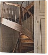 French Spiral Staircase Wood Print