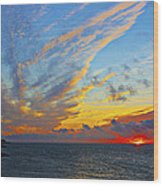 French Sunset Wood Print