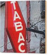 French Tobacconist Sign Wood Print