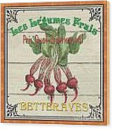 French Vegetable Sign 4 Wood Print