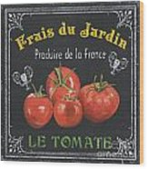 French Vegetables 1 Wood Print