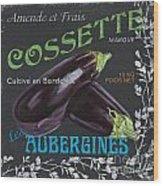 French Veggie Labels 4 Wood Print