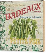 French Veggie Sign 1 Wood Print by Debbie DeWitt
