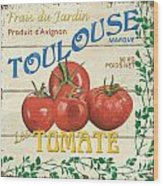 French Veggie Sign 3 Wood Print