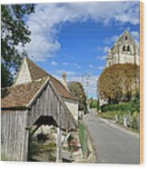 French Village Road Wood Print by Olivier Le Queinec