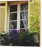 French Window Dressing Wood Print