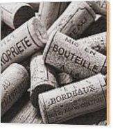 French Wine Corks Wood Print