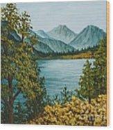 Frenchmans Lake Wood Print