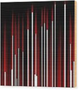 Frequency Red Wood Print