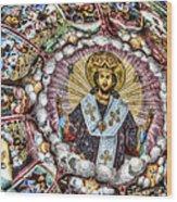Fresco From Rila Monastery  Wood Print