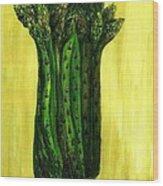 Fresh Asparagus Wood Print