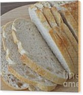 Fresh Baked Sourdough Wood Print by Mary Deal