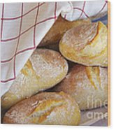 Fresh Bread Wood Print by Carlos Caetano