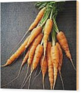 Fresh Carrots Wood Print