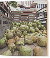 Fresh Coconuts Delivery Truck Wood Print