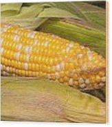 Fresh Corn At Farmers Market Wood Print by Teri Virbickis