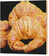 Fresh Croissants Wood Print
