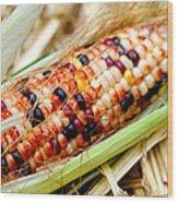 Fresh Decorative Indian Corn Wood Print