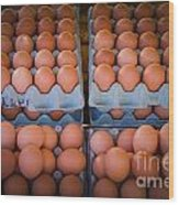 Fresh Eggs On A Street Fair In Brazil Wood Print