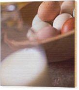 Fresh Eggs  Wood Print by Toni Hopper