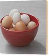 Fresh Farm Eggs Wood Print