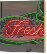 Fresh Fish Wood Print