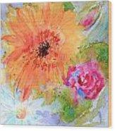 Fresh Flowers Wood Print