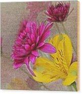 Fresh Flowers Painted Wood Print