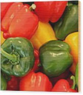 Fresh From The Market - Sweet Peper Mix Wood Print