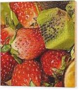 Fresh Fruit Salad Wood Print