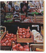 Fresh Fruits And Vegetables Wood Print