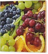 Fresh Fruits Wood Print by Elena Elisseeva