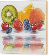 Fresh Fruits Wood Print